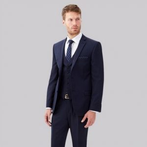 sanpham-2-1-300x300 Tailored Fit Blue Pindot Suit
