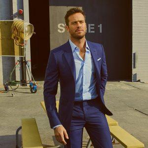 Brioni-300x300 Tailored Fit Blue Pindot Suit